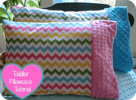Minky Toddler Pillowcase Tutorial Coral Co