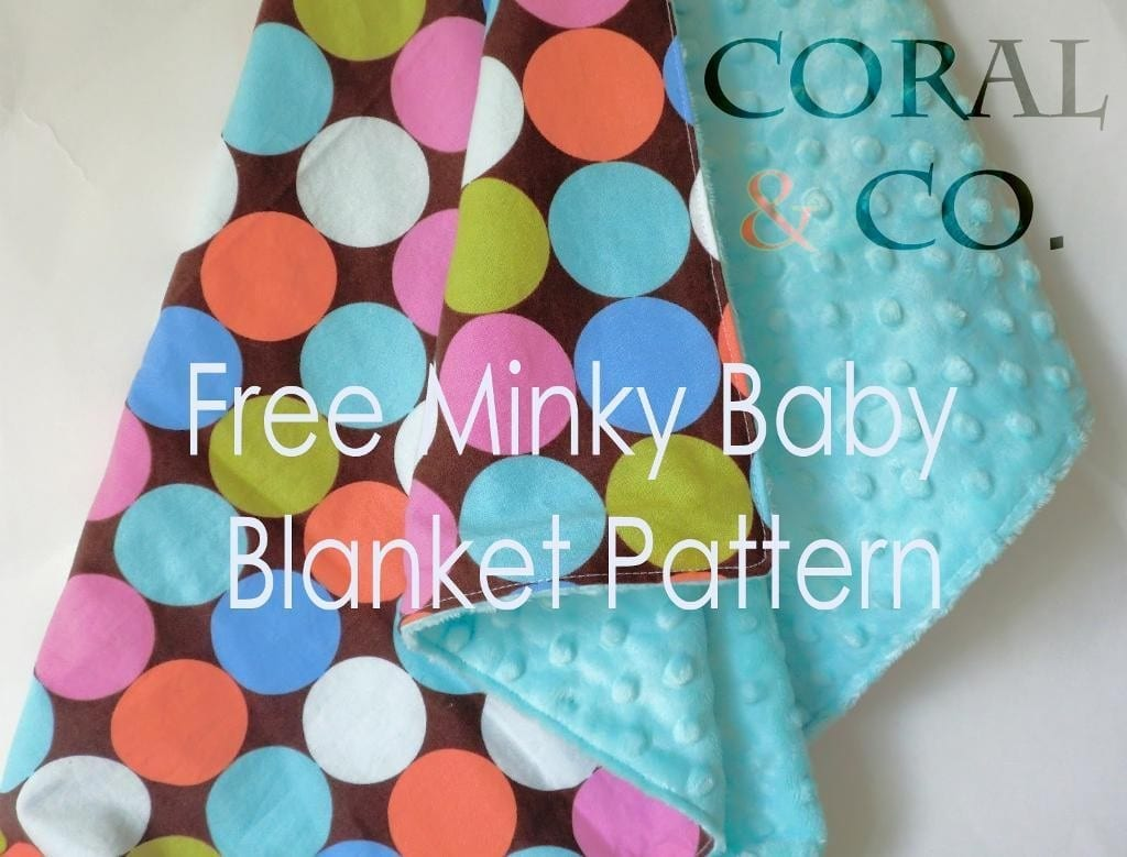 Free Baby Blanket Sewing Pattern Diy Minky Baby Blanket Coral Co