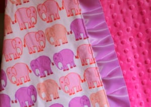 how to sew a ruffle minky baby blanket