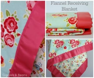 DIY Flannel receiving blanket