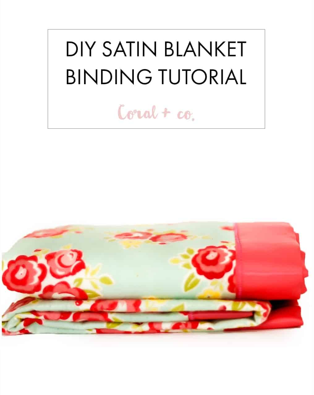 How To Sew Blanket Binding On A Flannel Baby Blanket Tutorial Coral Co