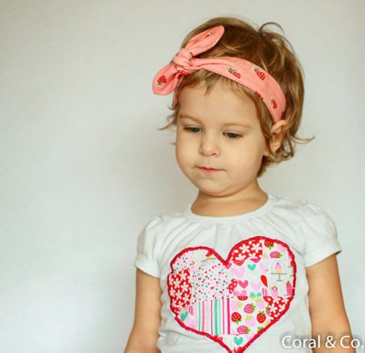 Valentines Day Outfit - Strawberry Leggings and Knot Headband
