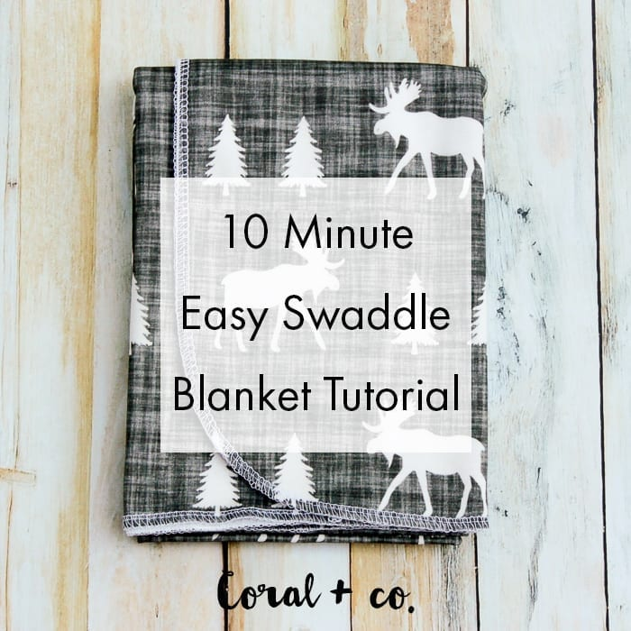Easy Diy Baby Swaddle Blanket Pattern And Tutorial Coral