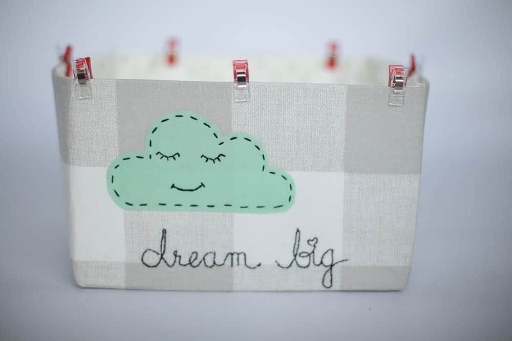 how-to-sew-diy-fabric-basket-with-hand-embroidery-cloud-applique