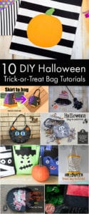 10 DIY Halloween Trick or Treat Bag Tutorials