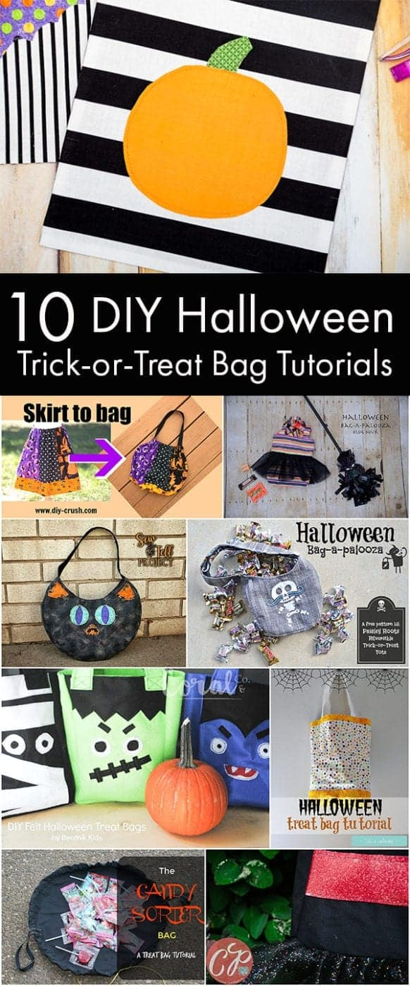 Diy Halloween Trick Or Treat Bags.10 Diy Halloween Trick Or Treat Bag Tutorials Halloween