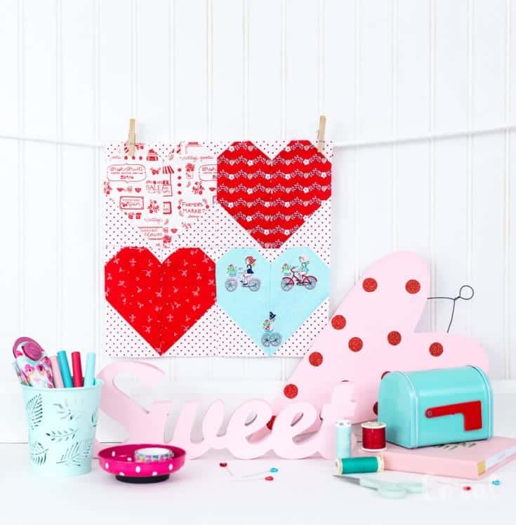 Cricut Maker Quilt Pattern - Learn to Quilt with Cricut - Valentine's Day Quilt Pattern