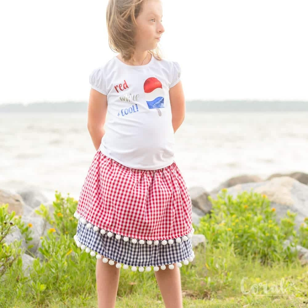 Pom pom skirt | patriotic sewing projects | Memorial Day Crafts You Can Sew To Show Your Patriotism | Sewing.com