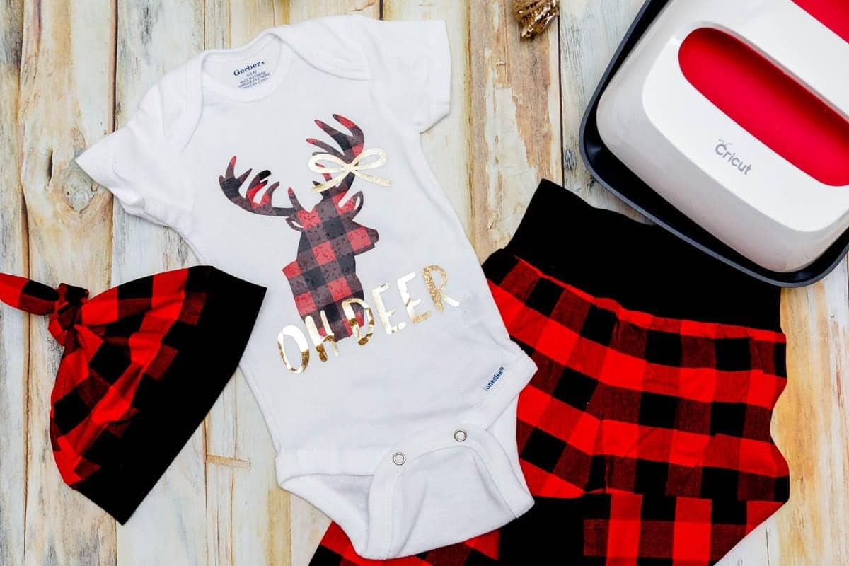 buffalo-plaid-deer-head-onesie