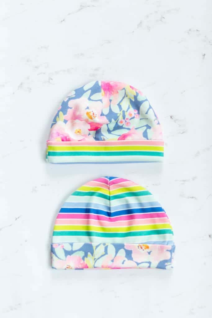 floral-rainbow-newborn-hats