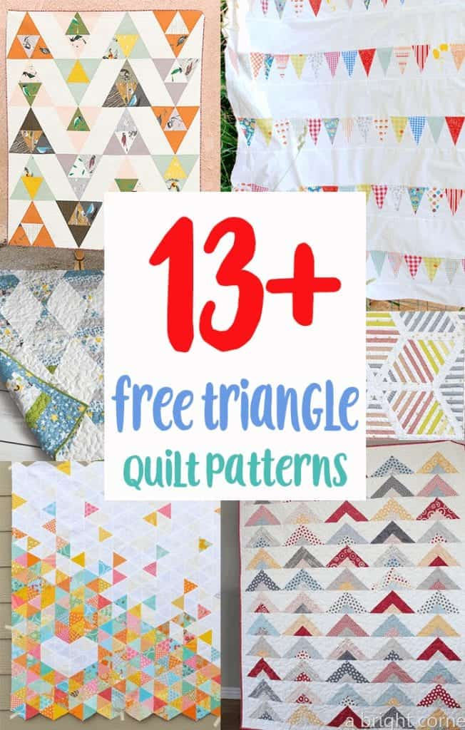 13+ Free Triangle Quilt Patterns for Beginners   Coral + Co.