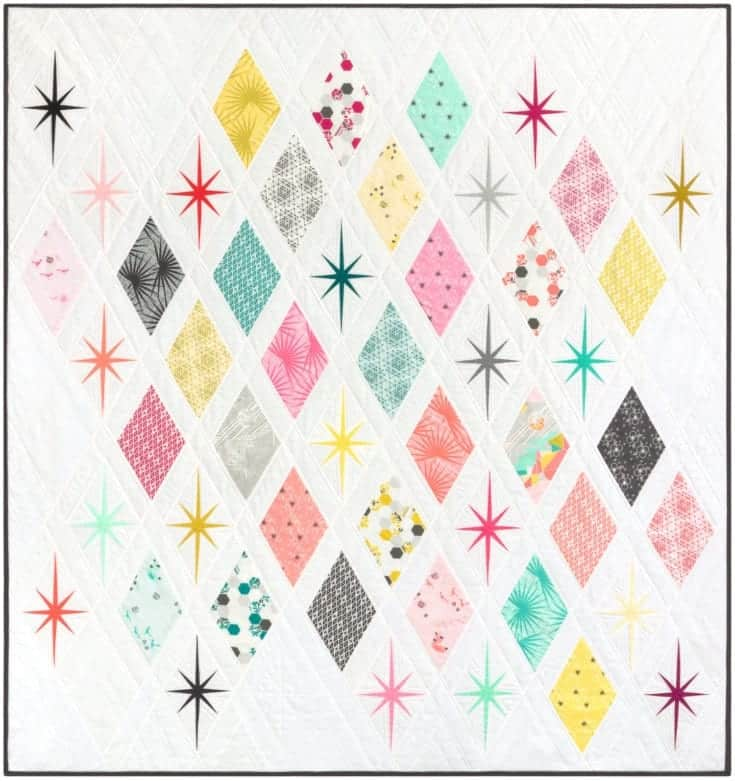 The Atomic Starburst Quilt PDF Pattern — Violet Craft