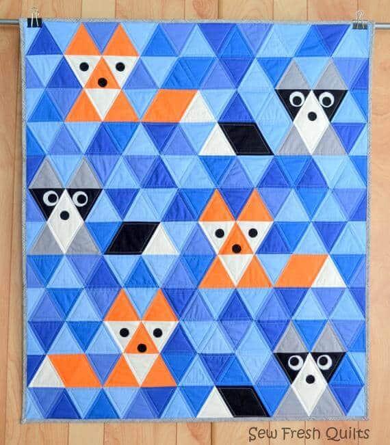 Fox & Friends Baby Quilt Pattern, PDF, Instant Download.
