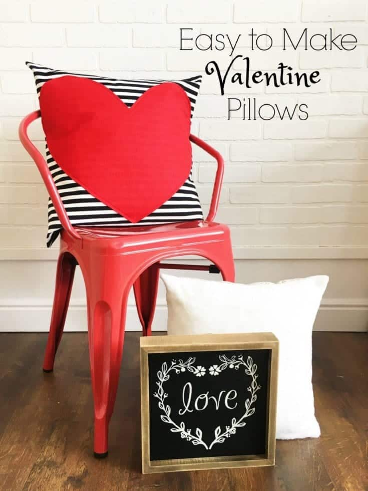 Easy Valentine Pillows Tutorial