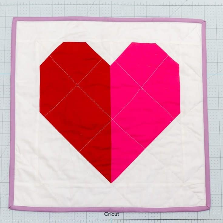 Valentines Heart Block Mini Quilt Pattern | Diary of a Quilter - a quilt blog