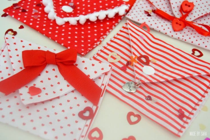 Valentine Fabric Envelopes Tutorial