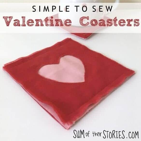 How to sew simple 15 minute Valentine Coasters