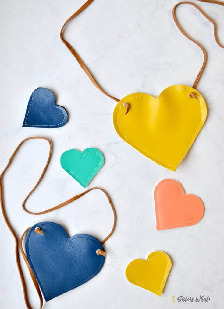 DIY Faux Leather Heart Purse & How to Cut Leather with Cameo 4