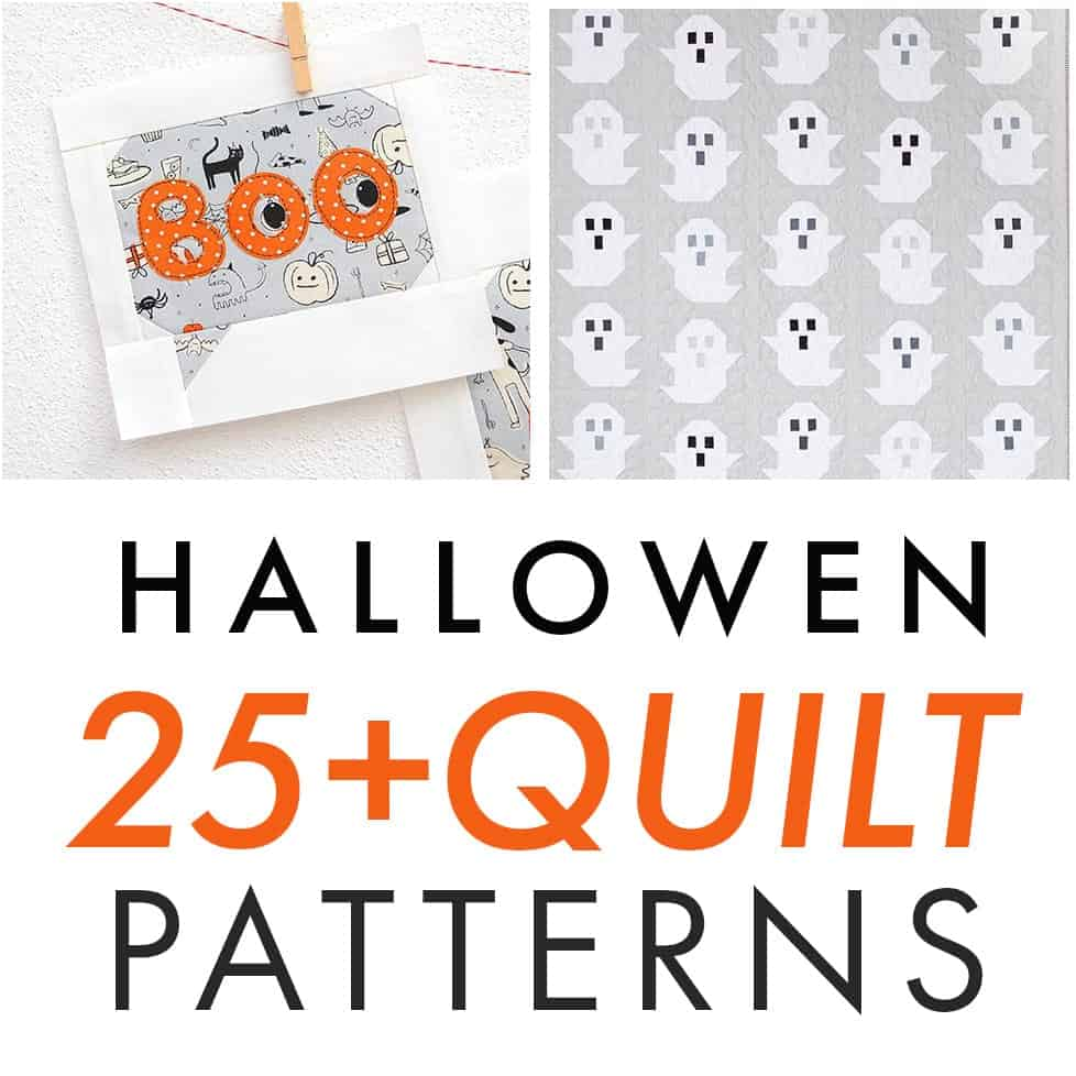 Halloween Quilts, Patterns 2020 25+ HALLOWEEN QUILT PATTERNS TO SEW! | Coral + Co.