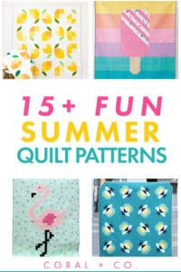 15+-summer-quilt-patterns-text-lemon-quilt-popsicle-quilt-firefly-quilt-flamingo-quilt